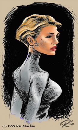 Seven of Nine, by Ric Machin (click for full-size image)